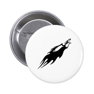 Eagle in Flames Pinback Button