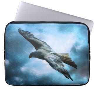 Eagle in flight laptop sleeves