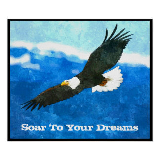 Eagle In Flight Poster