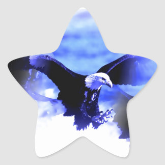 Eagle in Flight Star Sticker