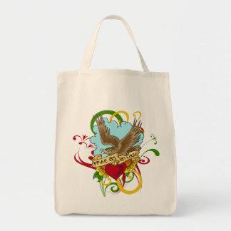 Eagle in Flight Tattoo Design Tote Bag