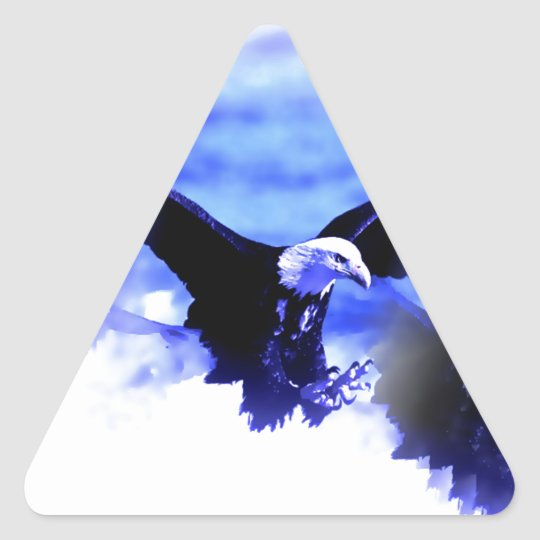 Eagle in Flight Triangle Sticker