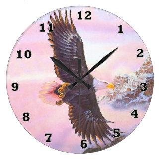 Eagle in Mist (Bird of Prey) Clock