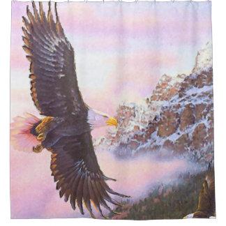 Eagle in Mist (Bird of Prey) Shower Curtain