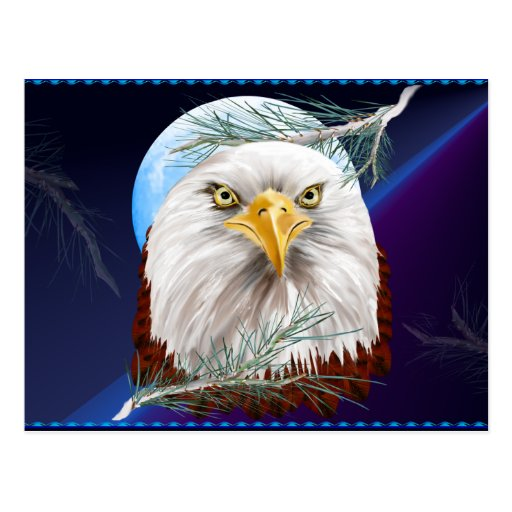 Eagle In The Pines  Postcard