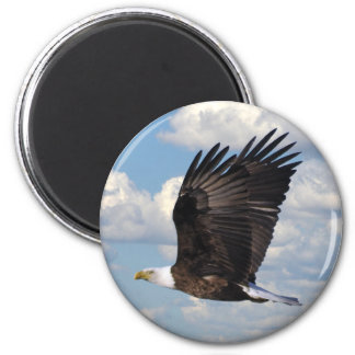 Eagle in the Sky 2 Inch Round Magnet