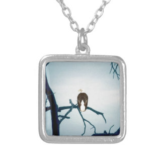 Eagle in the wild. silver plated necklace