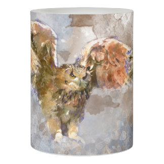 Eagle in watercolor flameless candle