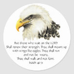 Eagle - inspirado - escritura - ellos esa espera pegatina redonda