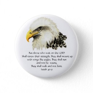 Eagle - Inspirational - Scripture - They that wait button
