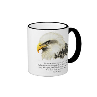 Eagle - Inspirational - Scripture - They that wait Ringer Coffee Mug