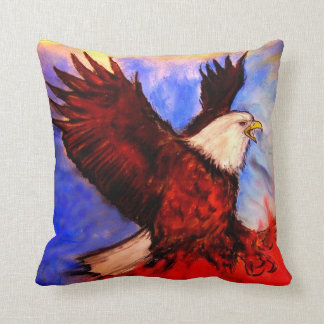 """""""Eagle - It's About America"""" - by Debi Blount Throw Pillow"""
