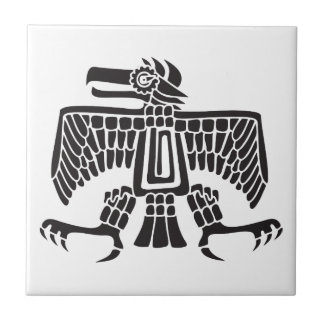 Eagle, jeroglífico mexicano (maya) azulejo cuadrado pequeño