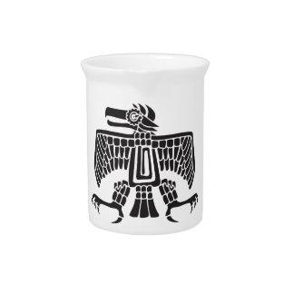 Eagle, jeroglífico mexicano (maya) jarra de beber