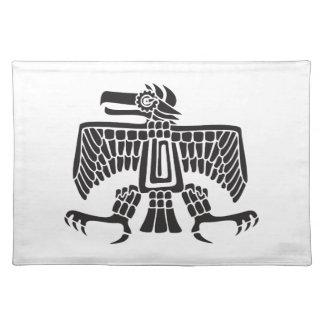 Eagle, jeroglífico mexicano (maya) mantel individual