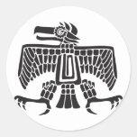 Eagle, jeroglífico mexicano (maya) pegatina redonda