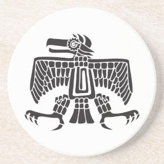 Eagle, jeroglífico mexicano (maya) posavasos para bebidas