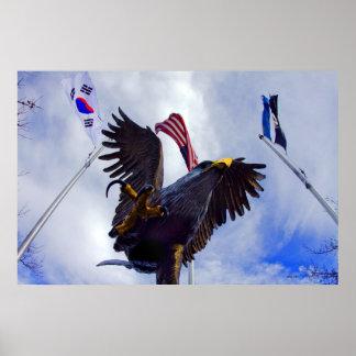 Eagle, Korean War Veterans Memorial, Carson City,  Poster