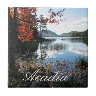 Eagle Lake, Autumn, Acadia National Park, Maine Tile