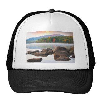 Eagle lake in acadia national park 2 trucker hat