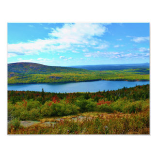 Eagle Lake & Sargeant Mountain Art Photo
