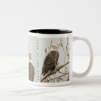 Eagle  Land of  the free Two-Tone Coffee Mug