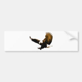 Eagle Landing Bumper Sticker