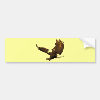 Eagle Landing Bumper Sticker