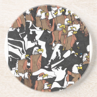 Eagle landing drink coaster