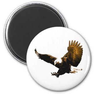 Eagle Landing 2 Inch Round Magnet