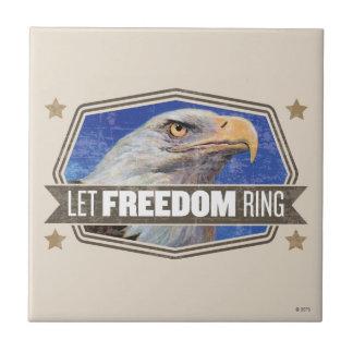 Eagle-Let Freedom Ring Tile