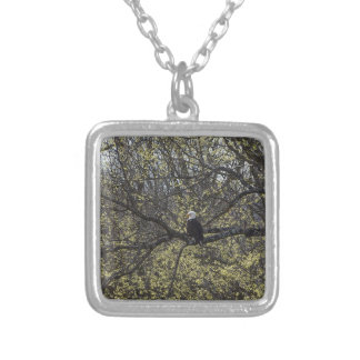 Eagle Lookout Painterly Silver Plated Necklace