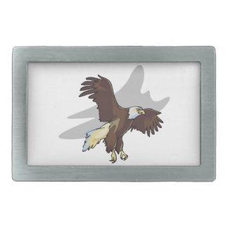 Eagle majestuoso hebilla cinturón rectangular