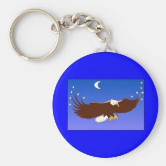 Eagle majestuoso llavero redondo tipo pin