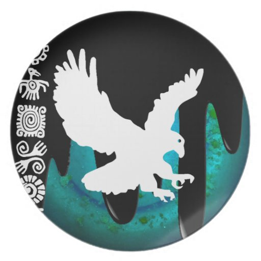 EAGLE MAYAN PRODUCTS PLATES
