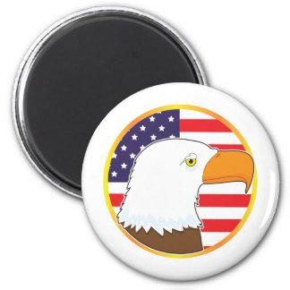 Eagle Medallion 2 Inch Round Magnet