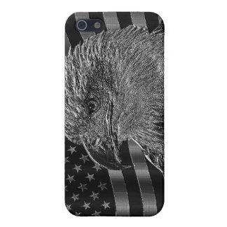 Eagle metálico y bandera americana iPhone 5 carcasa