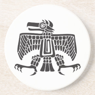 Eagle, Mexican hieroglyph(Maya) Sandstone Coaster