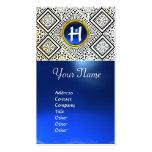 EAGLE ,  MONOGRAM ,blue sapphire Business Card Templates