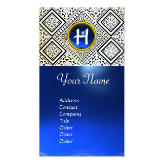 EAGLE ,  MONOGRAM ,blue sapphire Double-Sided Standard Business Cards (Pack Of 100)