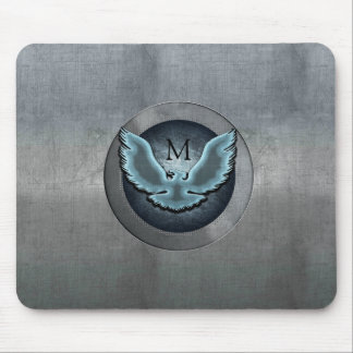 Eagle Monogram Light Blue Mouse Pad