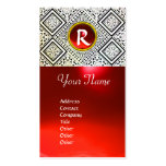 EAGLE ,  MONOGRAM ,Red ruby Business Card Templates