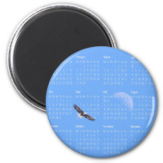 Eagle Moon Sky Magnet