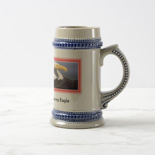 Eagle mug or stein, Son's name & date making Eagle