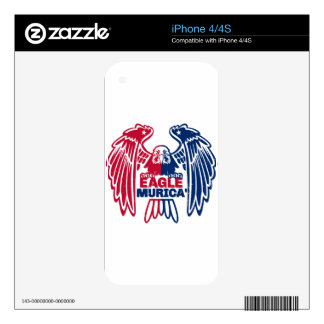 Eagle Murica Decal For iPhone 4