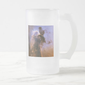 Eagle Nebula by Hubble Frosted Glass Beer Mug
