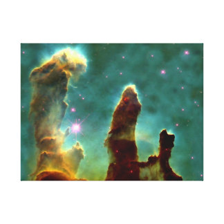 Eagle Nebula in space Stretched Canvas Print