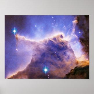 Eagle Nebula M16 Pillar Detail- Portion of Top Poster