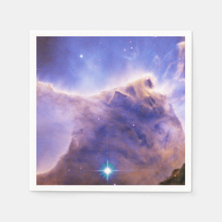 Eagle Nebula (M16) Pillar Detail- Portion of Top Standard Cocktail Napkin
