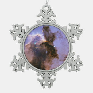 Eagle Nebula (M16) Snowflake Pewter Christmas Ornament